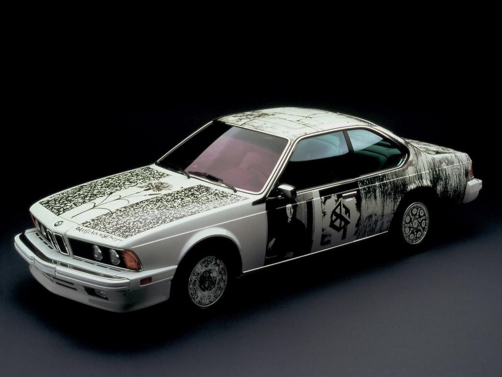 Bmw 635 Csi Art Car By Robert Rauschenberg Wallpapers By