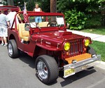 Willys Jeep Maroon Wallpapers