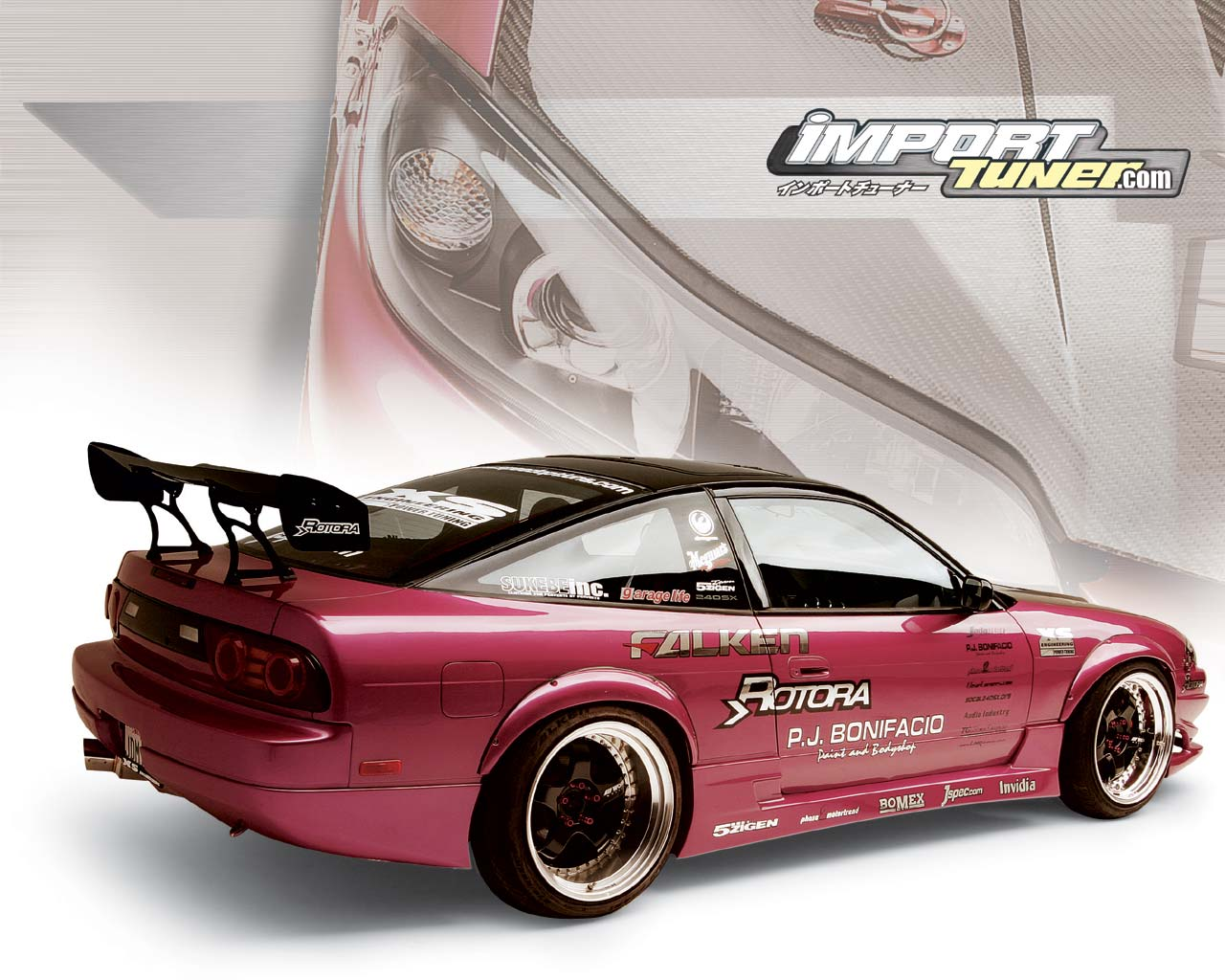 Nissan 240SX Tuned Car Wallpapers