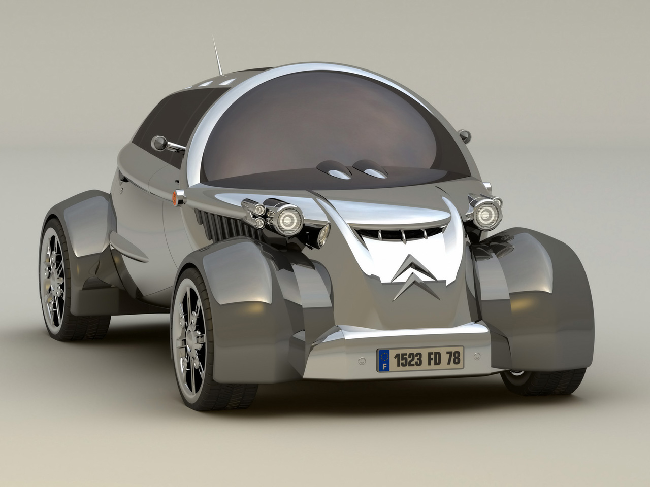 2008 citroen 2cv concept design wallpapers by cars. Black Bedroom Furniture Sets. Home Design Ideas